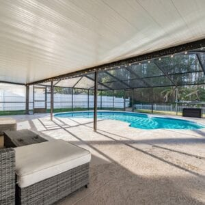 swimming pool in the patio